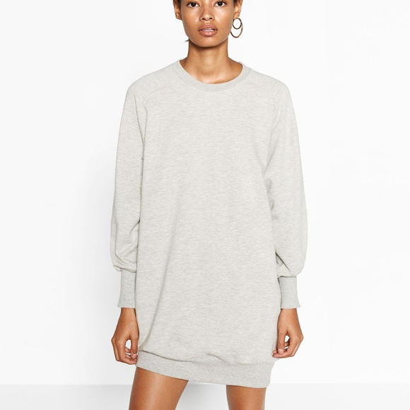 Zara DressesNew Dress L Gray Oversized Sweatshirt Poshmark 1JlKcTF
